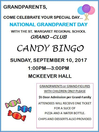 Grandparents Candy Bingo Info